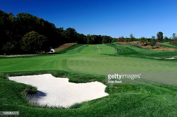 A course scenic shot of the eighth green during the second round of the Constellation Energy Senior Players Championship at TPC Potomac at Avenel...