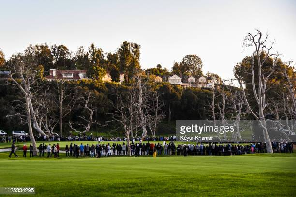 Course scenic view as fans watch the group of Tiger Woods, Peter Malnati and Cody Gribble putt on the 15th hole green during the third round of the...