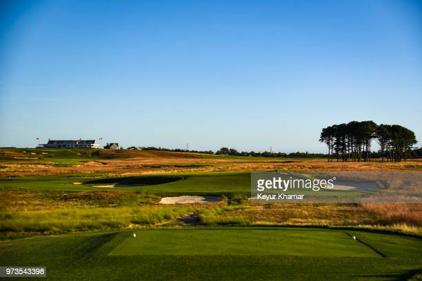 Course scenic view from the seventh hole tee box during media day for the 2018 U.S. Open Championship at Shinnecock Hills Golf Club on October 4 in...