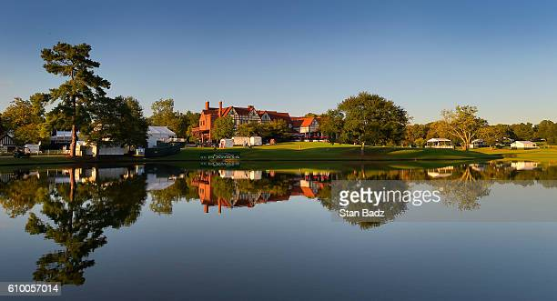 A course scenic view of East Lake at sunset after the second round of the TOUR Championship the final event of the FedExCup Playoffs at East Lake...