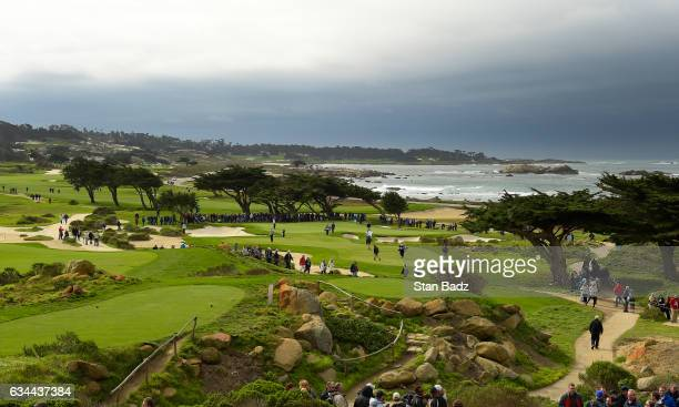 A course scenic view of the 11th hole during the first round of the ATT Pebble Beach ProAm at Monterey Peninsula Country Club on February 9 2017 in...