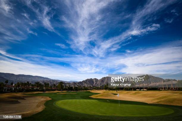 Course scenic view of the 11th hole green during the second round of the Desert Classic on the Nicklaus Tournament Course at PGA West on January 18,...