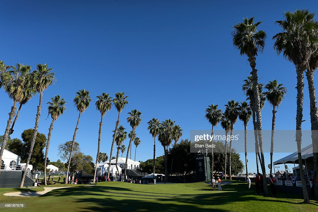 A course scenic view of the 15th hole during the second round of the Champions Tour Toshiba Classic at Newport Beach Country Club on October 31, 2015 in Newport Beach, California.