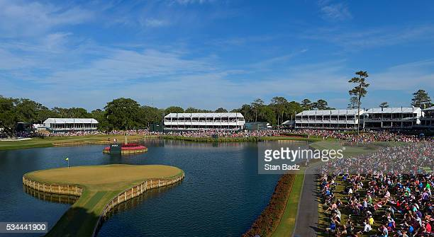 A course scenic view of the 17th hole during the final round of THE PLAYERS Championship on THE PLAYERS Stadium Course at TPC Sawgrass on May 15 2016