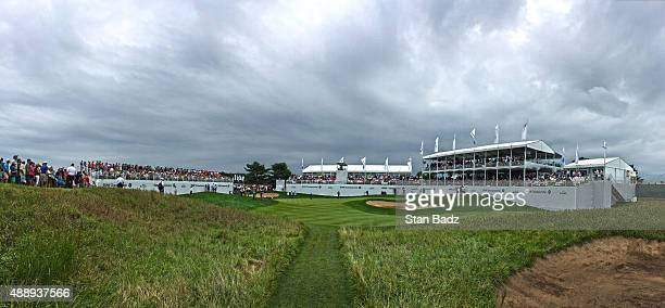 A course scenic view of the 17th hole during the second round of the BMW Championship at Conway Farms Golf Course on September 18 2015 in Lake Forest...