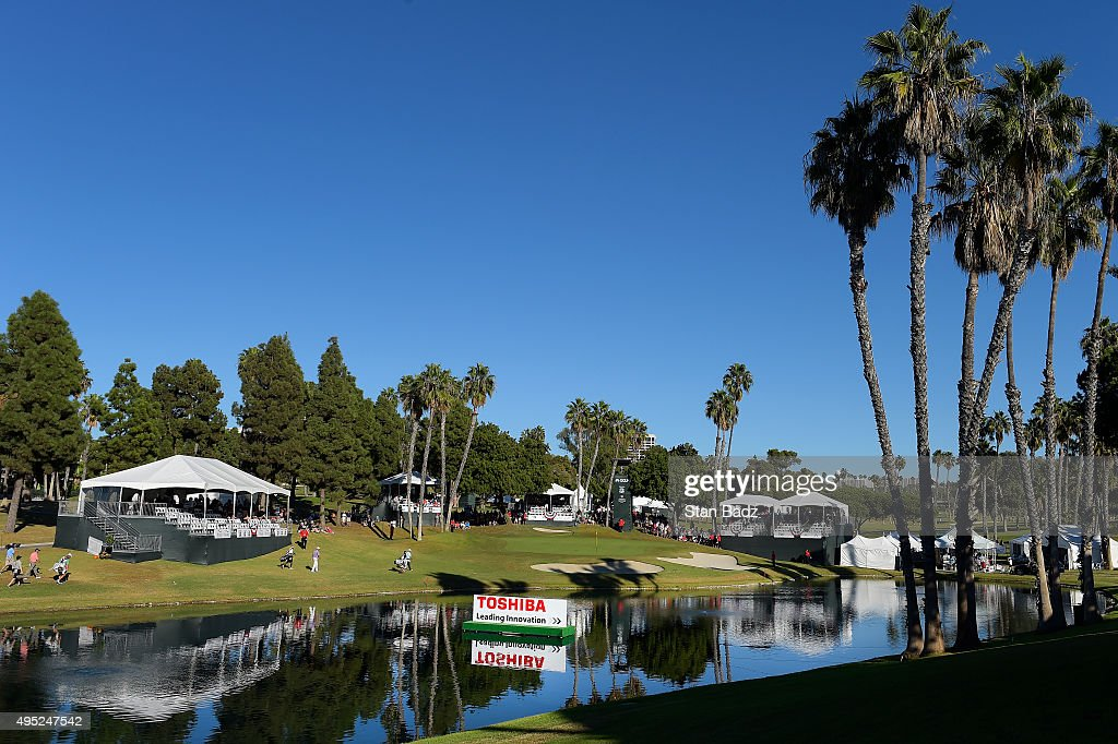 A course scenic view of the 17th hole during the second round of the Champions Tour Toshiba Classic at Newport Beach Country Club on October 31, 2015 in Newport Beach, California.