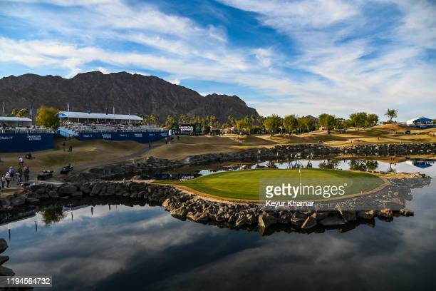 Course scenic view of the 17th hole green during the third round of the The American Express on the Stadium Course at PGA West on January 18, 2020 in...