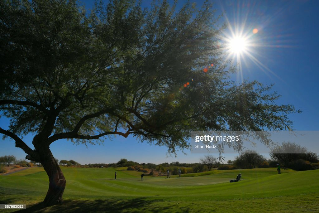 A course scenic view of the first hole during the first round of the Web.com Tour Qualifying Tournament at Whirlwind Golf Club on the Devils Claw course on December 7, 2017 in Chandler, Arizona.