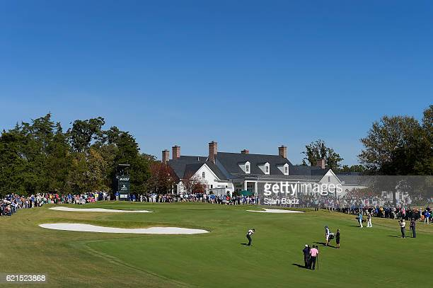 Course scenic view of the ninth hole during the final round of the PGA TOUR Champions Dominion Charity Classic at The Country Club of Virginia on...