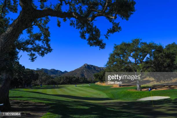 Course scenic view of the second hole during the first round of the PGA TOUR Champions Invesco QQQ Championship at Sherwood Country Club on November...