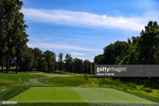 A course scenic view of the sixth hole tee box during practice for the Quicken Loans National at TPC Potomac at Avenel Farm on June 28 2017 in...