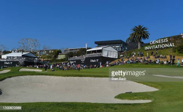 Course sence view of the second hole during the second round of the Genesis Invitational at Riviera Country Club on February 14, 2020 in Pacific...