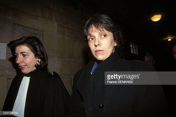 Court appearance of Christine Villemin In Dijon France On November 22 1993 Maitre Chastant and CVillemin