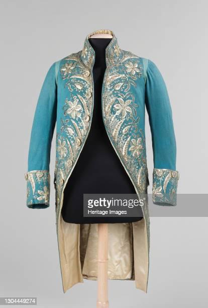 Court coat, probably British, 1775-89. Artist Unknown.