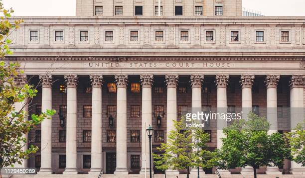 court house neoclassical building in lower manhattan - courthouse stock pictures, royalty-free photos & images