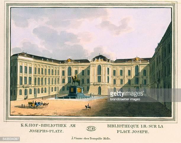 KK Court Library at JosephPlace> 1825 Coloured etching Journal No 10 from >Wiens vorzüglichste Gebäude und Monumente Les principaux batiments et...