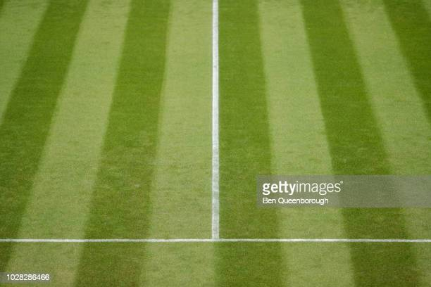 Court lines on a tennis court