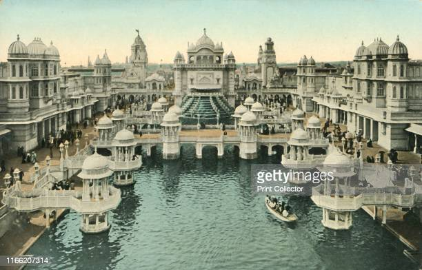 Court of Honour, Coronation Exhibition, London, 1911. Mughal style buildings. The Coronation Exhibition, at White City in west London, was held to...
