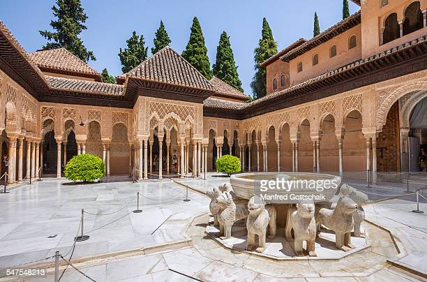 Court of Lions with 12 lions fountain