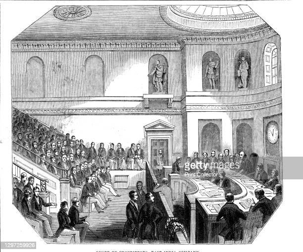 Court of Proprietors, East India Company, 1844. '...a view of the General Court Room [in Leadenhall Street, London]. Its east side is occupied by...