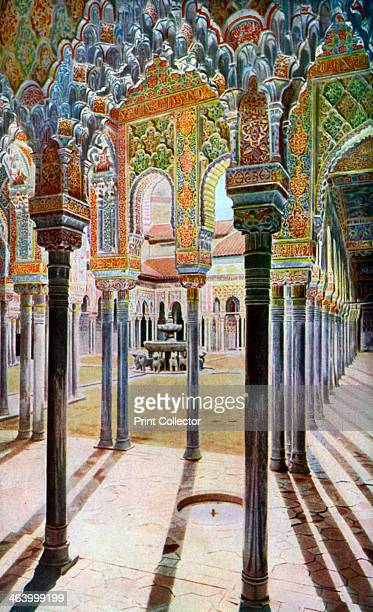 Court of the Lions the Alhambra Granada Andalusia Spain c1924 The palace of the Moorish kings of Granada the Alhambra is a masterpiece of Islamic...
