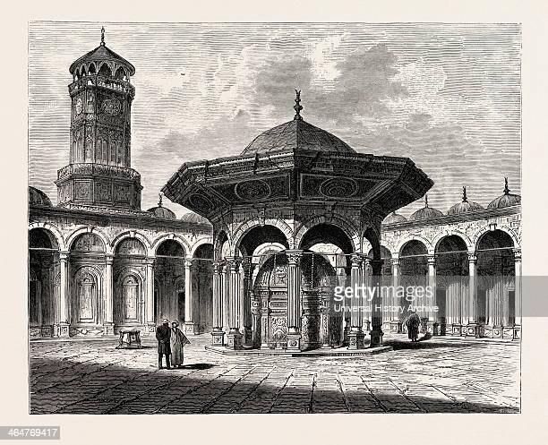Court Of The Mosque Of Mohammed Ali In The Citadel Egypt Engraving 1879