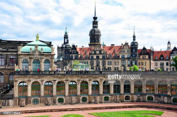court of zwinger in dresden, germany - palace stock pictures, royalty-free photos & images