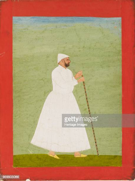 Court official wearing a white jama circa 1740 Dimensions height x width mount 554 x 402 cmheight x width page 286 x 216 cmheight x width painting...