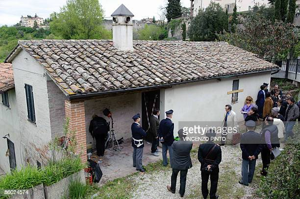 Court President Giancarlo Massei Together With Judges And Lawyers Inspects On April 18 2009 A Cottage