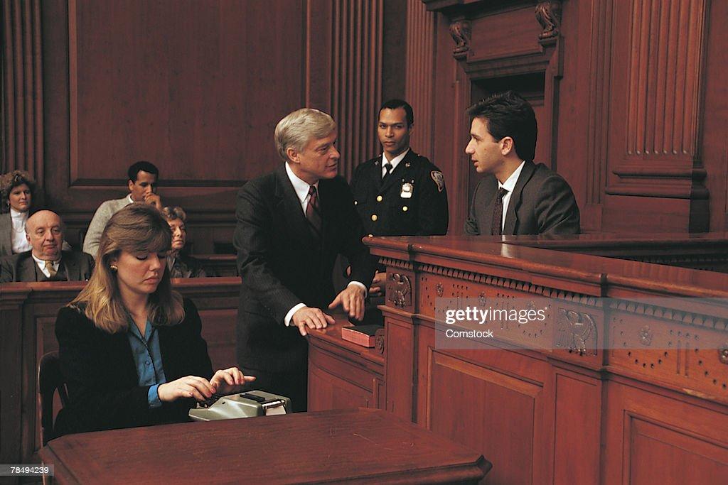 Court scene : Stock Photo