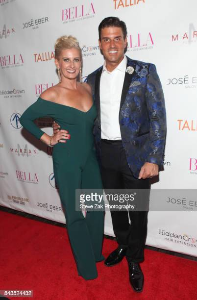 Courtenay Hall and Dan Hall attend Bella Magazine NYFW Kickoff Party at The Attic Rooftop Lounge on September 6 2017 in New York City