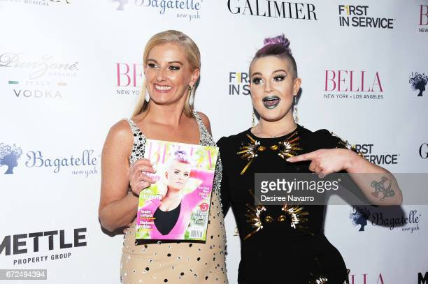 Courtenay Hall and Kelly Osbourne attend BELLA New York Spring Issue cover party hosted by Kelly Osbourne at Bagatelle on April 24 2017 in New York...