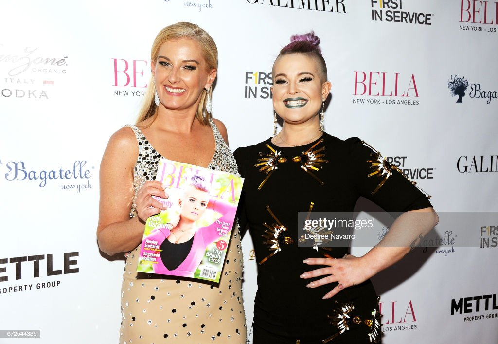 Courtenay Hall and Kelly Osbourne (R) attend BELLA New York Spring Issue cover party hosted by Kelly Osbourne at Bagatelle on April 24, 2017 in New York City.