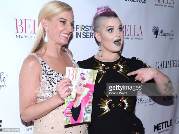Courtenay Hall and Kelly Osbourne attend the BELLA New York Spring Issue Cover Party Hosted By Kelly Osbourne at Bagatelle on April 24 2017 in New...