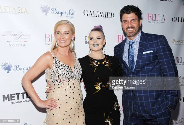 Courtenay Hall Kelly Osbourne and Dan Hall attend BELLA New York Spring Issue cover party hosted by Kelly Osbourne at Bagatelle on April 24 2017 in...