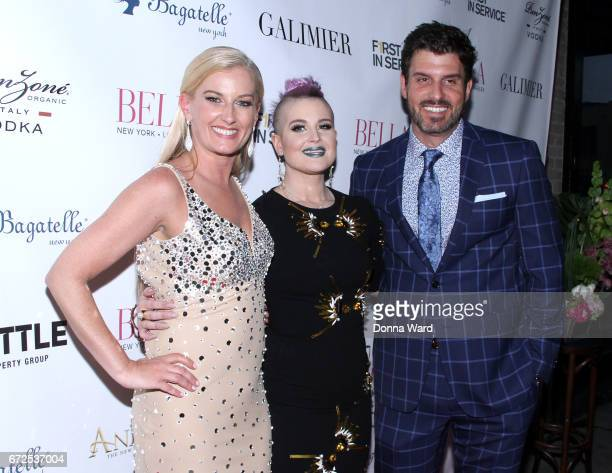 Courtenay Hall Kelly Osbourne and Dan Hall attend the BELLA New York Spring Issue Cover Party Hosted By Kelly Osbourne at Bagatelle on April 24 2017...