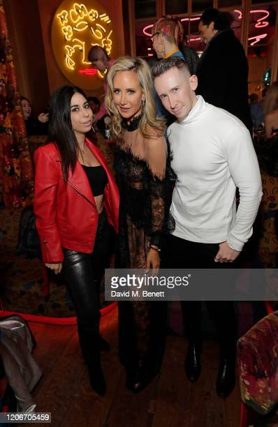 Courtenay Semel Lady Victoria Hervey and Stephen Mikhail attend the launch of Lady Victoria Hervey and Scott Henshall's new brand 'Hervey Henshall'...