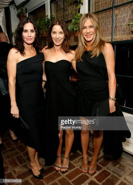 Courteney Cox, Amanda Anka and Jennifer Aniston attend the 2020 Netflix Oscar After Party at San Vicente Bugalows on February 09, 2020 in West...