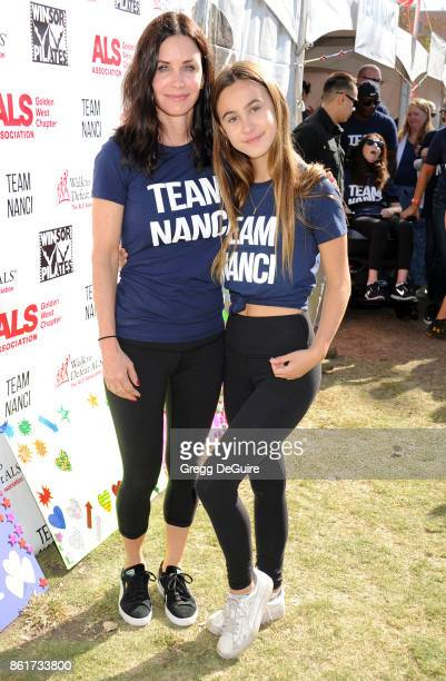 Courteney Cox and daughter Coco Arquette attend Nanci Ryder's Team Nanci 15th Annual LA County Walk To Defeat ALS at Exposition Park on October 15...