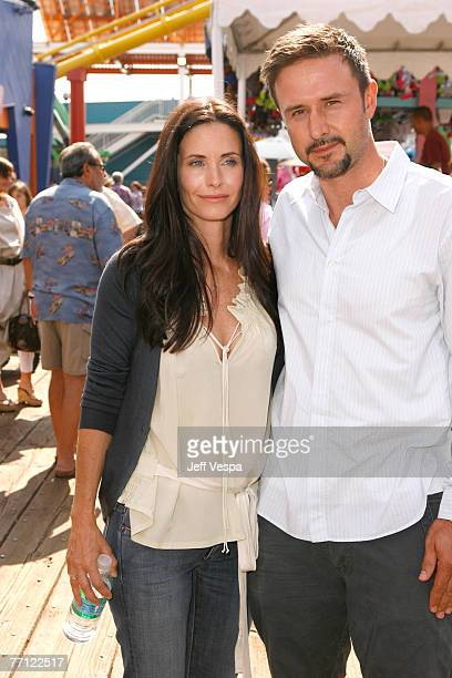 Courteney Cox and David Arquette arrive at the Kinerase Skincare 'CelEBration on the Pier' hosted by Courteney Cox to benefit the EB Medical Research...