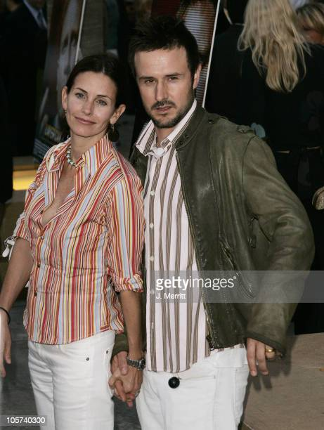 """Courteney Cox and David Arquette during """"Layer Cake"""" Los Angeles Premiere at The Egyptian Theatre in Hollywood, California, United States."""