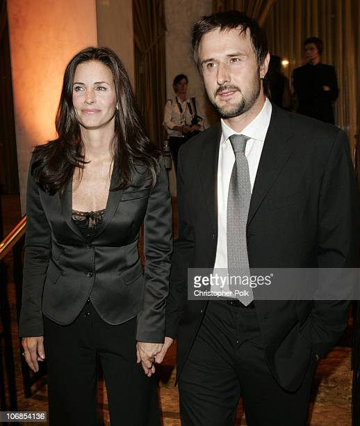 Courteney Cox and David Arquette during Saks Fifth Avenue's Unforgettable Evening Benefiting Women's Cancer Research Fund Inside at The Regent...