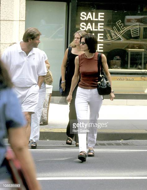 Courteney Cox and Friends during Courteney Cox Sighting in New York City July 17 1997 at Madison Avenue New York City in New York City New York...