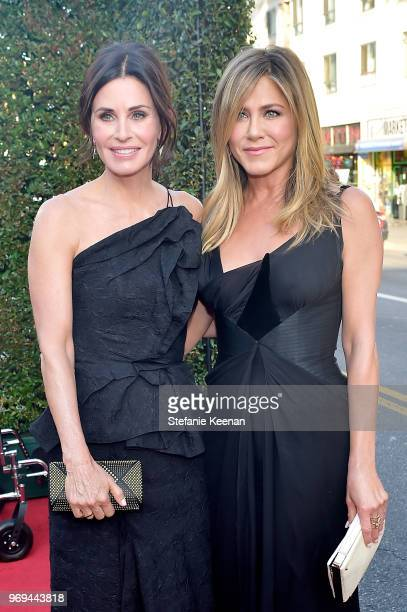 Courteney Cox and Jennifer Aniston attend Audi Presents The 46th AFI Life Achievement Award Gala at Dolby Theatre on June 7 2018 in Hollywood...