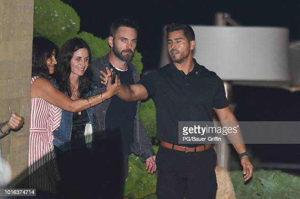 Courteney Cox and Johnny McDaid are seen at Nobu on August 13 2018 in Los Angeles California