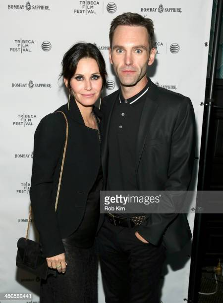 Courteney Cox and Johnny McDaid attend the 'Just Before I Go' Premiere after party during the 2014 Tribeca Film Festival sponsored by Bombay Sapphire...