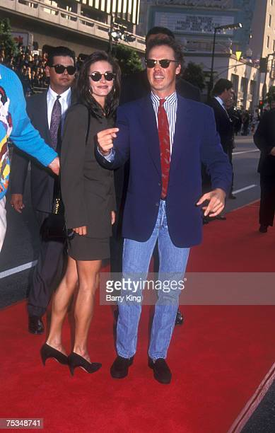 Courteney Cox and Michael Keaton at World Premiere of Batman Returns at Mann's Chinese Theatre in Hollywood California on June 16 1992
