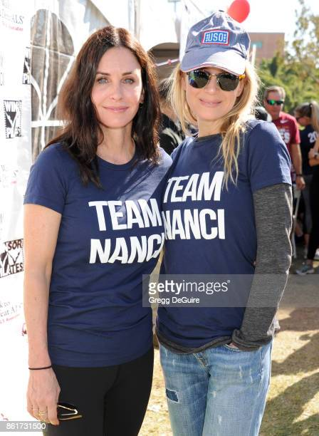 Courteney Cox and Renee Zellweger attend Nanci Ryder's Team Nanci 15th Annual LA County Walk To Defeat ALS at Exposition Park on October 15 2017 in...