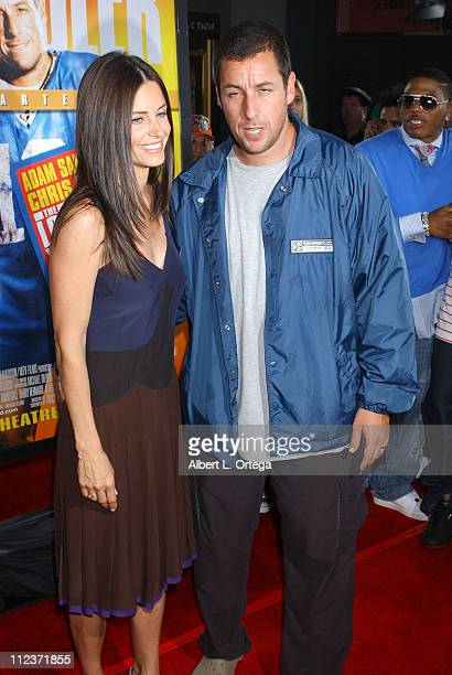 Courteney Cox Arquette and Adam Sandler during 'The Longest Yard' Los Angeles Premiere Arrivals at Grauman's Chinese Theatre in Hollywood California...