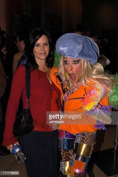 Courteney Cox Arquette and Alexis Arquette during 'HR Pufnstuf The Complete Series' DVD Release Party at Museum of Television Radio in Beverly Hills...